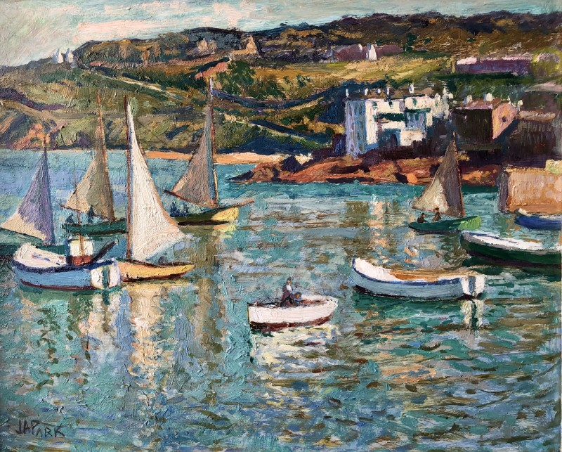 John Anthony Park (1880-1962)High Tide, St Ives Harbour, c. 1920