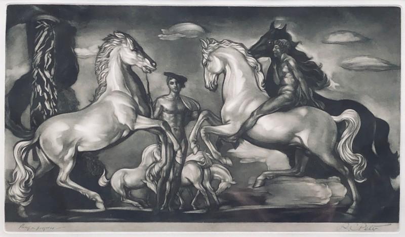 Robert Charles Peter (1888-1980)Horses and Warriors, c. 1925
