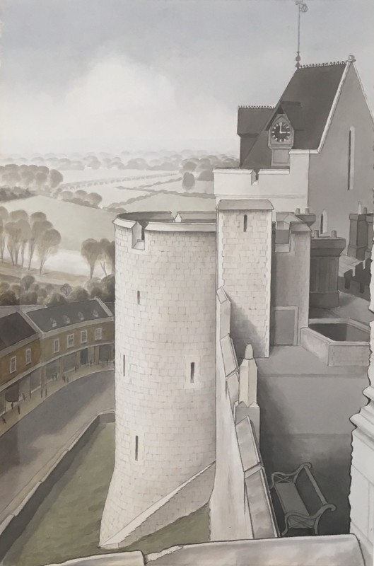 Fergus Graham (1900-1968)Curfew Tower from Salisbury Tower, Windsor Castle, 1944