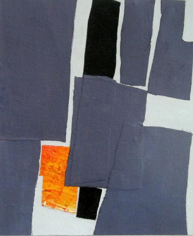 Roger Large (b. 1939)Composition blue and orange
