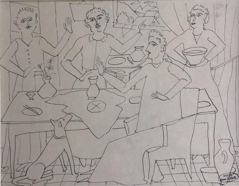 André Derain, Le banquet, c. 1930's
