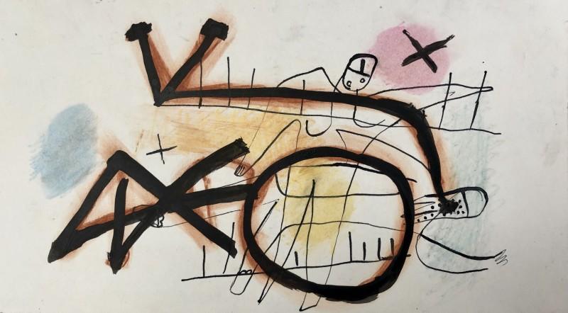 Carlos Carnero, Composition surréaliste, c. 1950