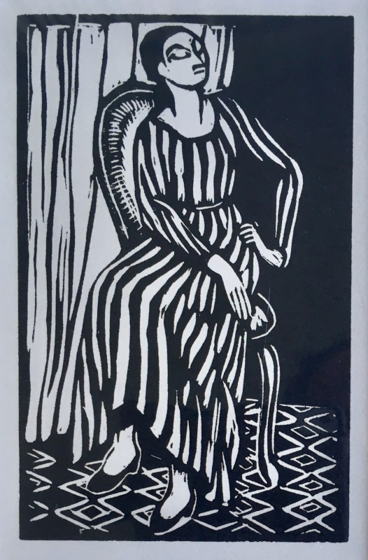 Roger Fry (1866-1934)The Striped Dress, 1921