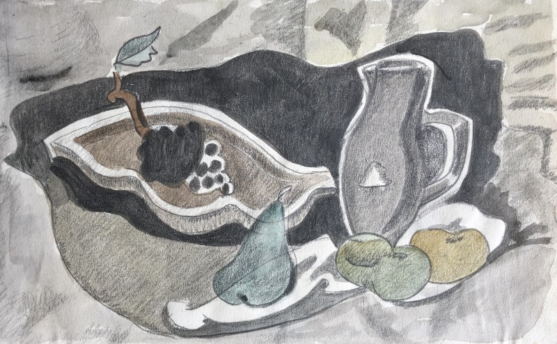 Doris Hatt, Still Life with Jug and Fruit, 1950's
