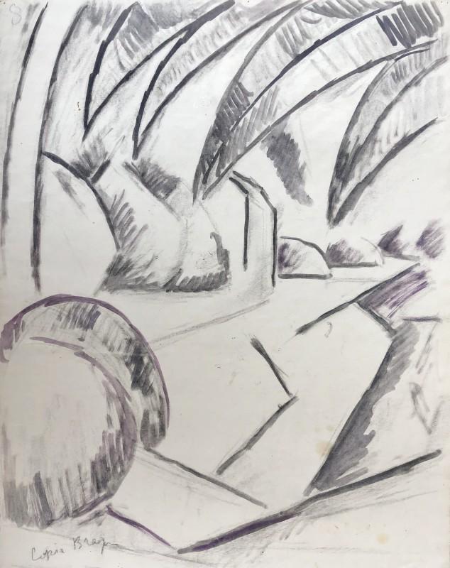 Marie Marevna (1892-1984)Study after Braque's 'Paysage a L'Estaque' , c. 1912-14