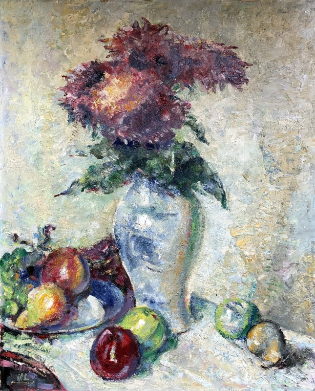Alfred Wolmark (1871-1961)Still Life with Flowers and Apples, c. 1920