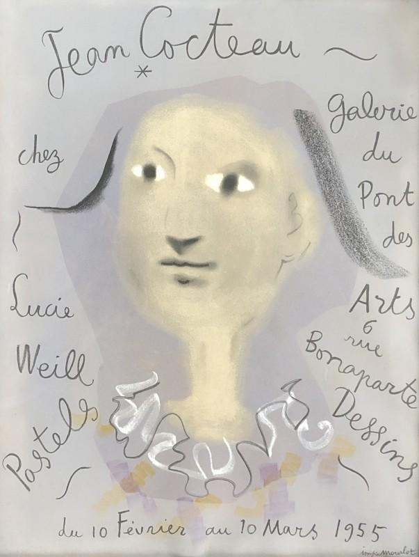 Jean Cocteau (1889-1963)Jean Cocteau chez Lucie Weill, 1955