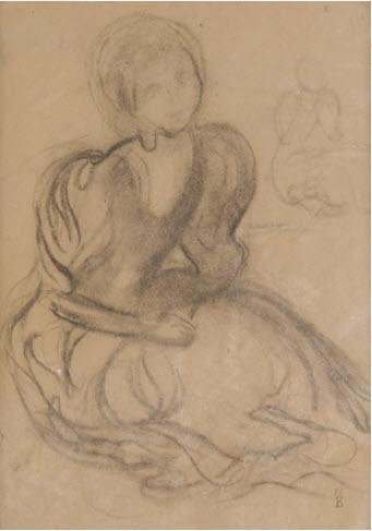 Maurice Denis, Study for 'Le Verger des Vierges Sages', 1893
