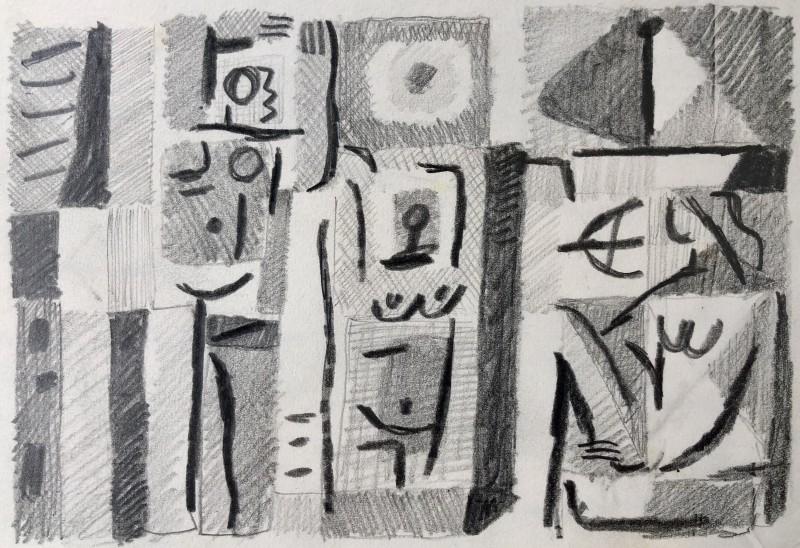 Carlos Carnero (1922-1980)Étude pour les baigneurs, 1957
