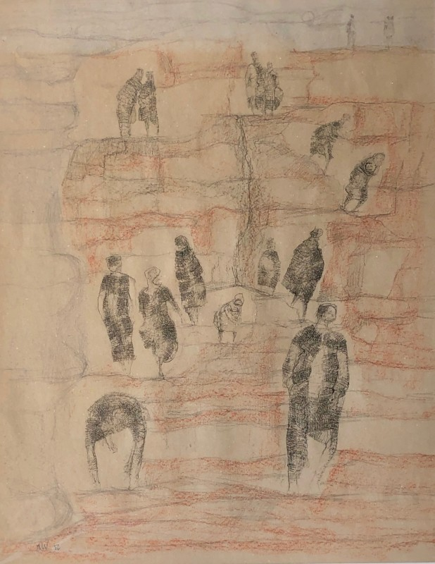 Austin Wright (1911-1997)Figures on a Cliff, 1956