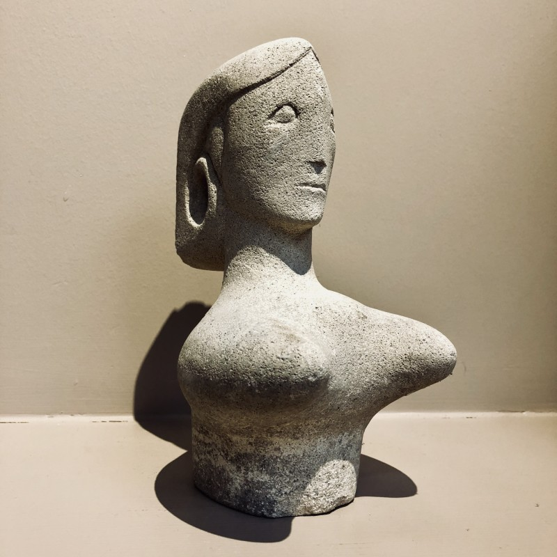 Eric Stanford (1932-2020)Bust in White Marble, c. 1980s