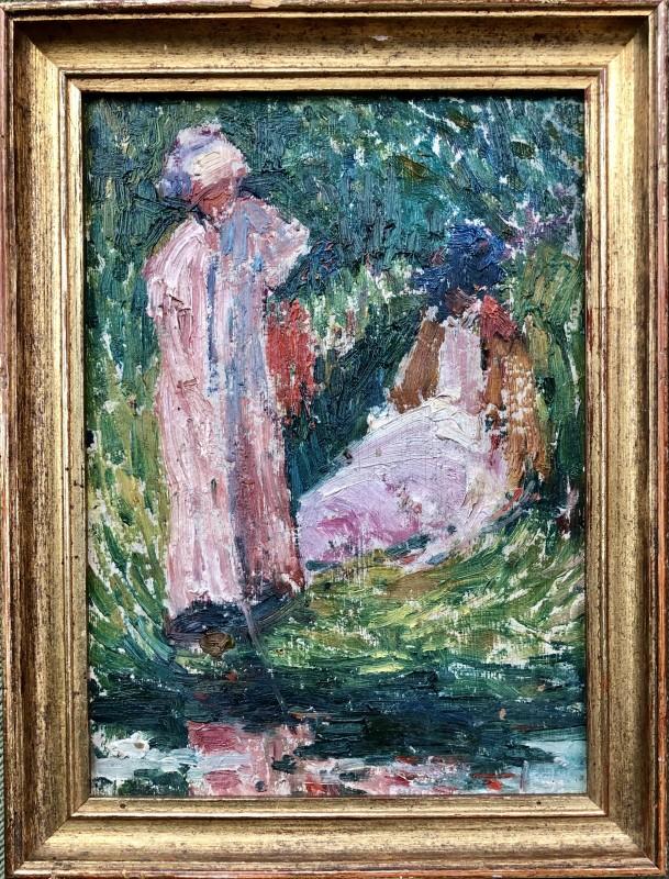 Hippolyte Petitjean (1854-1929)Deux femmes au bord de l'eau, c. 1912