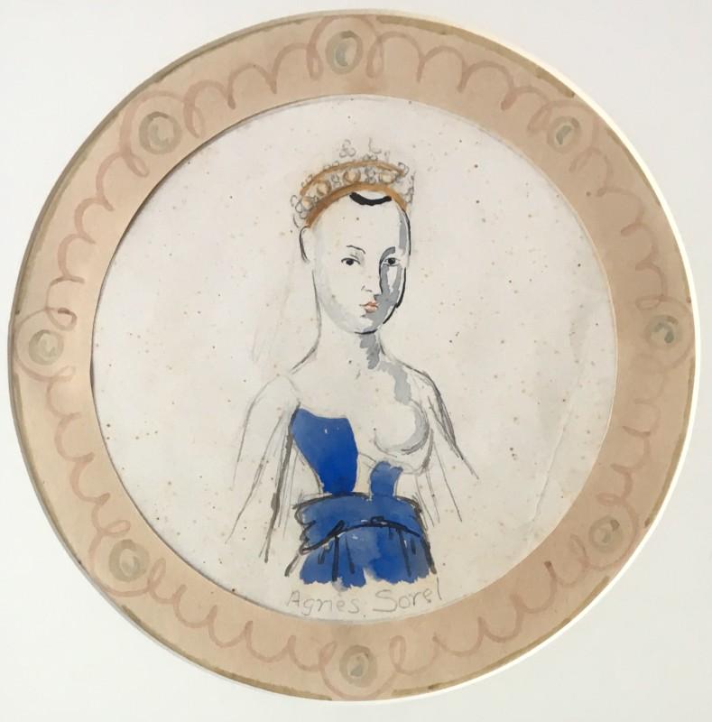 VANESSA BELL (1879-1961)  AGNES SOREL PLATE  SOLD