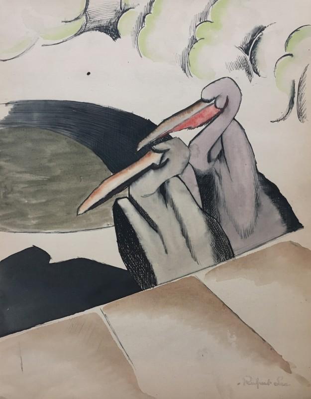 RUPERT LEE (1887-1959)  PELICANS