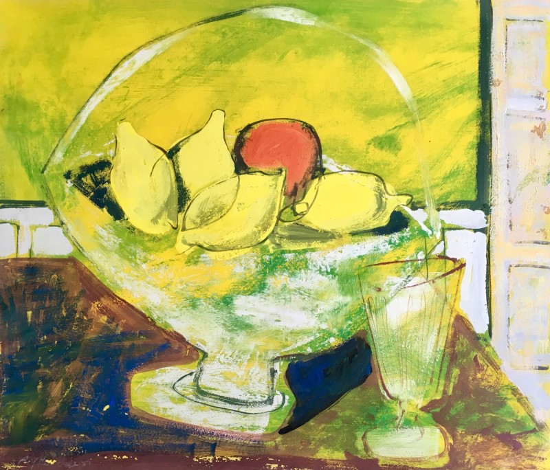 ROY HOBDELL (1911-1961)  STILL LIFE WITH LEMONS  SOLD