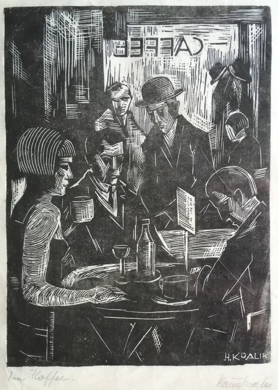 HANNS KRALIK (1900-1971)  CAFÉ INTERIOR, 1926