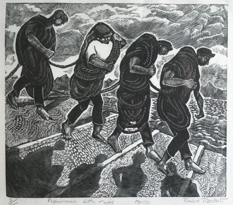 RACHEL RECKITT (1908-1995)  FISHERMEN WITH NETS