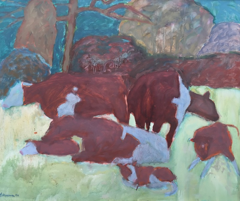 HANS SCHWARZ (1922-2003)  COWS