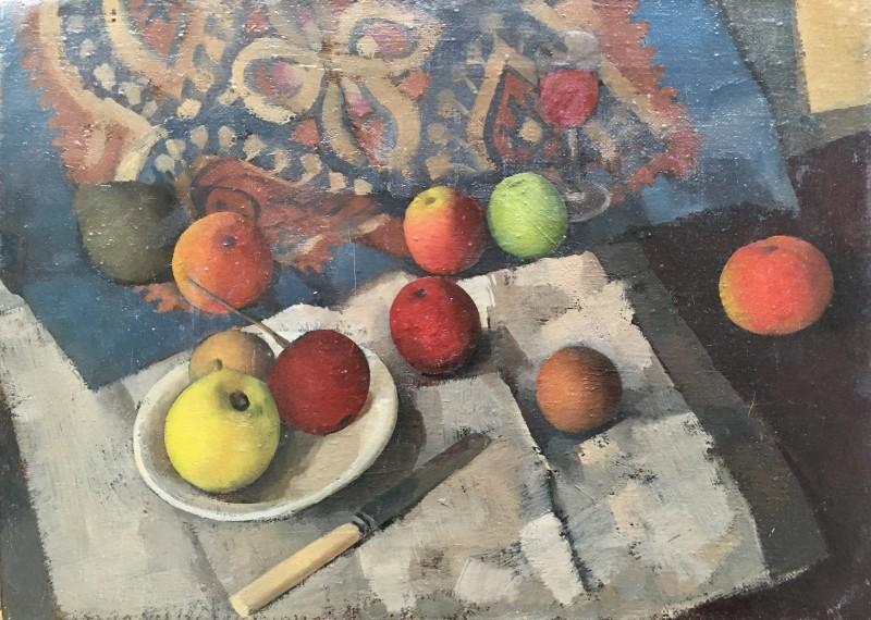 GORDON SCOTT (1914-2016)  STILL LIFE WITH APPLES, c. 1945