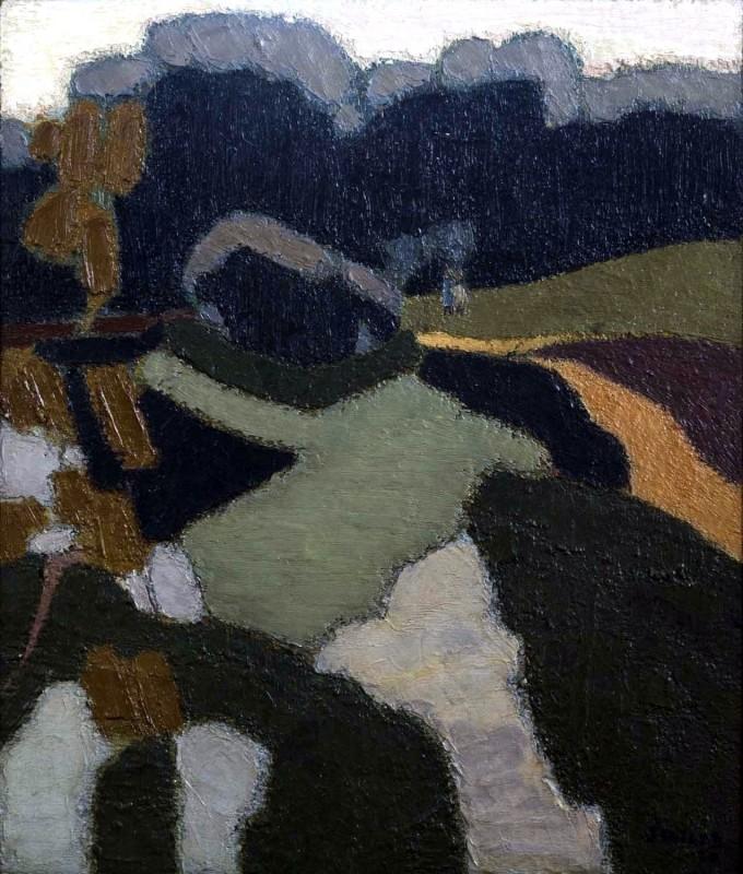 BRYAN SENIOR (B. 1935)  MIDDLE POND, HAMPSTEAD HEATH, 1960