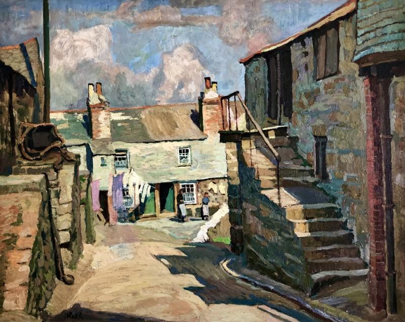 John Anthony Park (1880-1962)Porthmeor Road, St. Ives, c. 1920