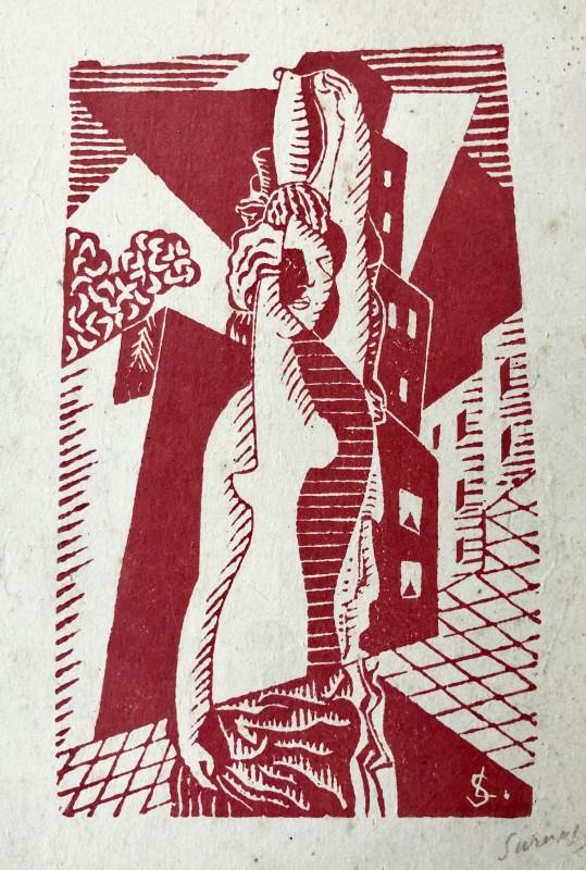 Léopold Survage (1879-1968)La marchande de poissons, 1917