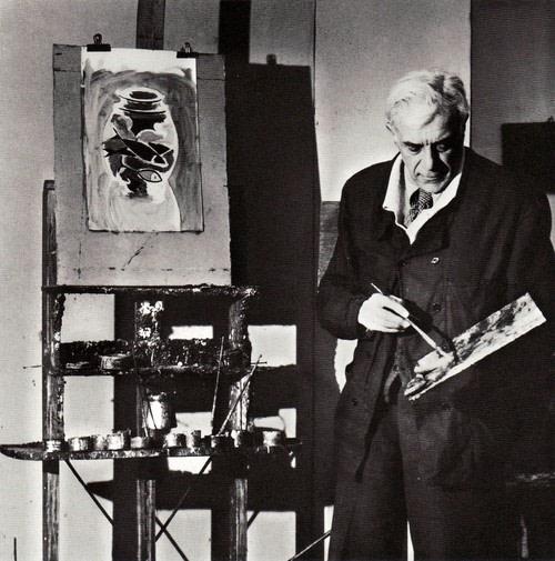 Georges Braque in his studio, 1944