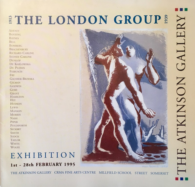 The London Group 1913-1939 Exhibition Catalogue - 1st - 28th February 1995 - The Atkinson Gallery, Somerset