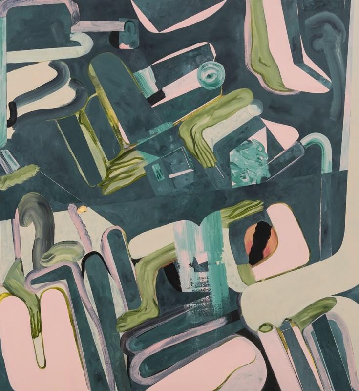 Tahnee Lonsdale, Phantom Limb, 2016 Acrylic on canvas, 130 x 140 cm