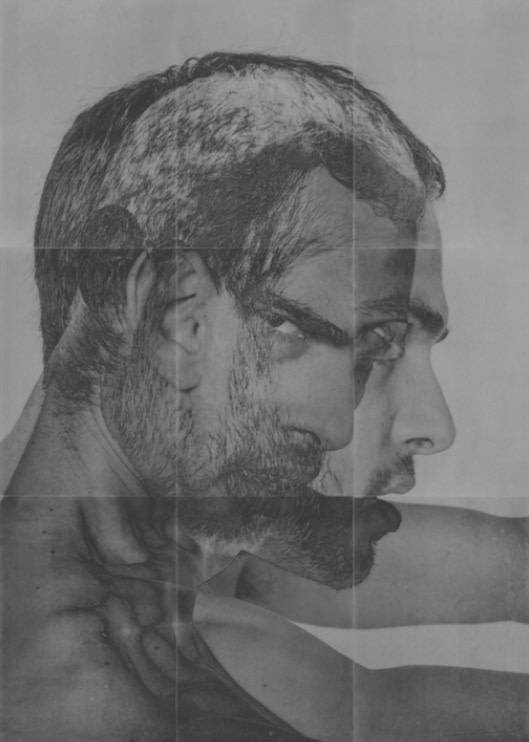 Rad Husak Mirrored [XI], 2018 Pigment transfer and carbon pencil on sandblasted aluminium Edition of 3 84 x 60 cm