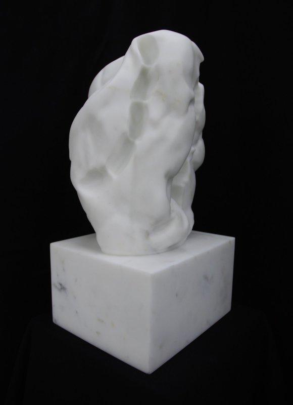 Untitled (VII), 2013, Statuario Michelangelo marble, 48 x 25 x 21.5 cm. Unique