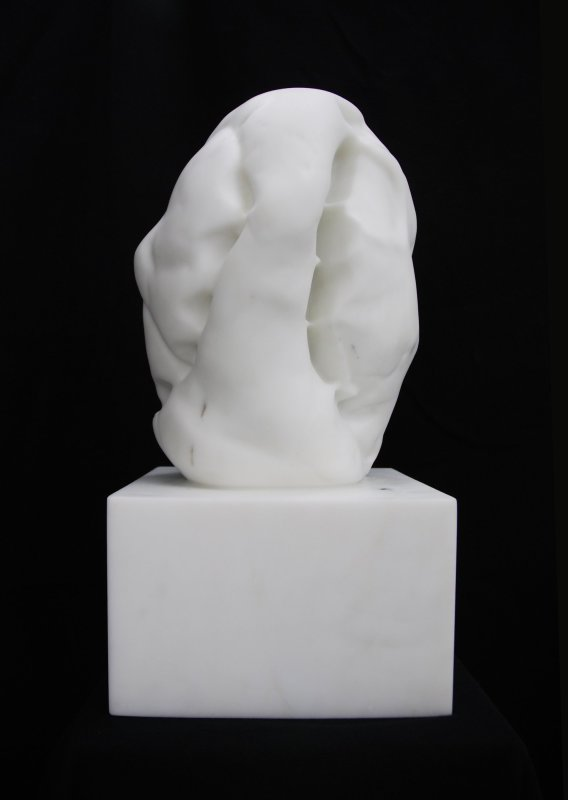 Untitled (VIII), 2013, Statuario Michelangelo marble, 49 x 25 x 23.5 cm. Unique