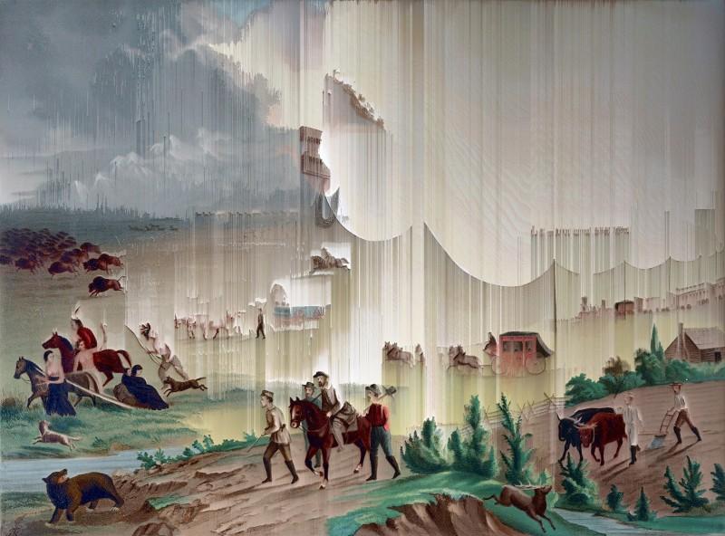 Manifest Destiny, 1872 (after John Gast), 2017