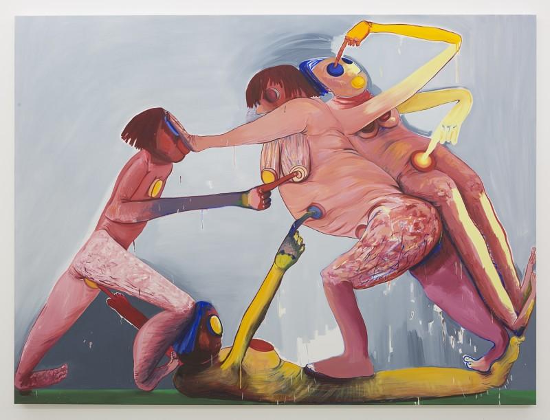 Hot Ribena, 2018 Oil on canvas 190 x 255 cm 74 3/4 x 100 3/8 in.