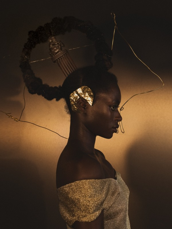 DJENEBA ADUAYOM, BLACK GOLD #4, 2018