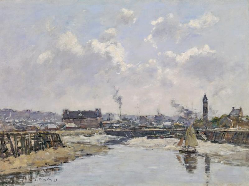 Trouville, Le Port Marée Basse, Le Matin