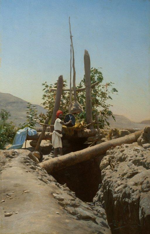 Rudolf Swoboda, At the Well, 1886