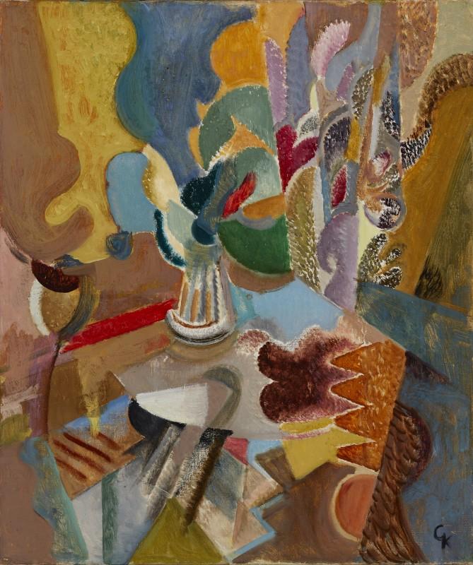 Greta Knutson-Tzara, Still Life with Flowers, 1954
