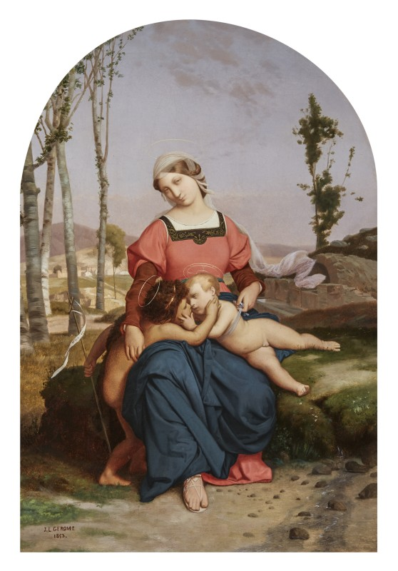 Jean-Léon Gérôme, The Virgin, Christ Child, and Infant Saint John the Baptist, 1853
