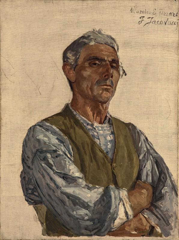 Fancesco Jacovacci, Portrait of a Man (The Sculptor Ettore Ferrari?), 1880