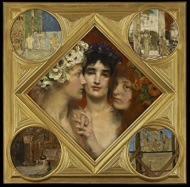 Sir Lawrence Alma-Tadema, O.M., R.A., The Three Graces