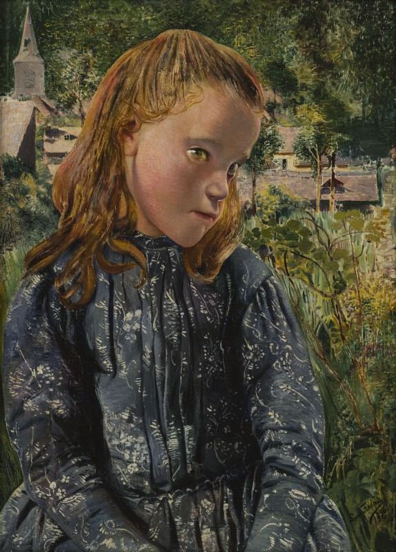 Léon Frédéric, La petite Ardennaise à la robe bleue (Young Ardennaise Girl in a Blue Dress), 1896