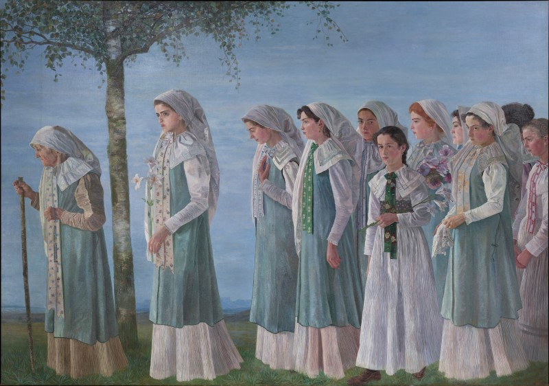 Karl Mediz, Sunday Procession of Gottscheer Women, 1897