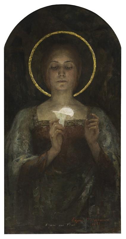 Edgard Maxence, Pureté (Purity) or Saint with Calla Lily, 1895
