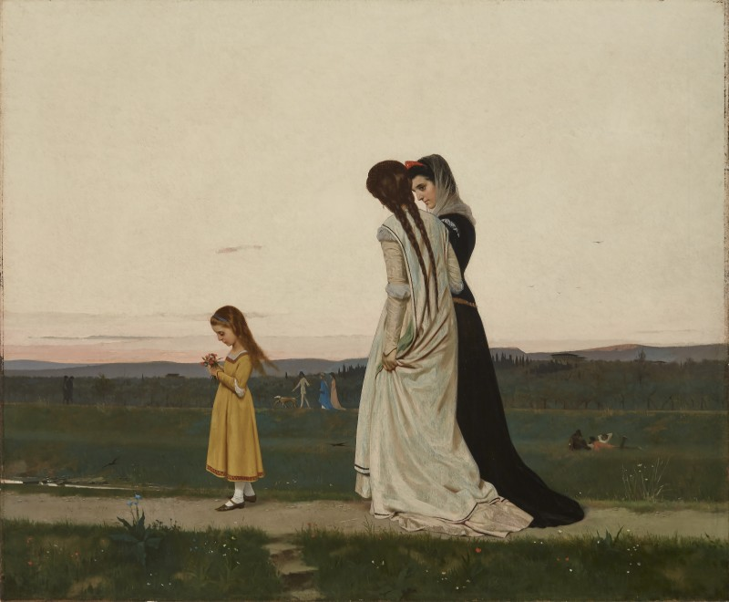Raffaello Sorbi, The Evening Walk--Environs of Florence, 1870