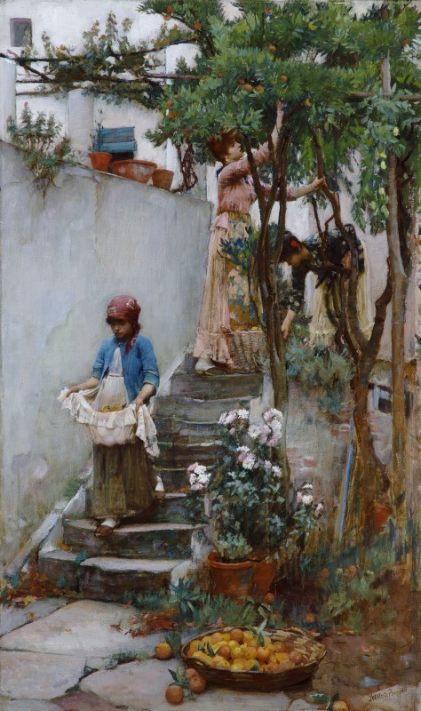 John William Waterhouse, R.A, An Orange Garden, 1889-90