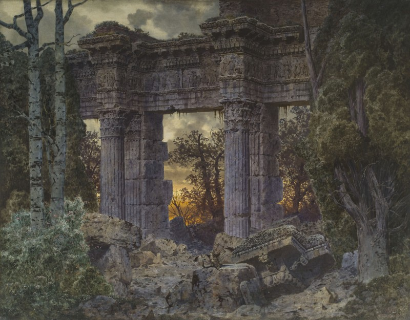 Ferdinand Knab, Roman Ruin at Twilight, 1894