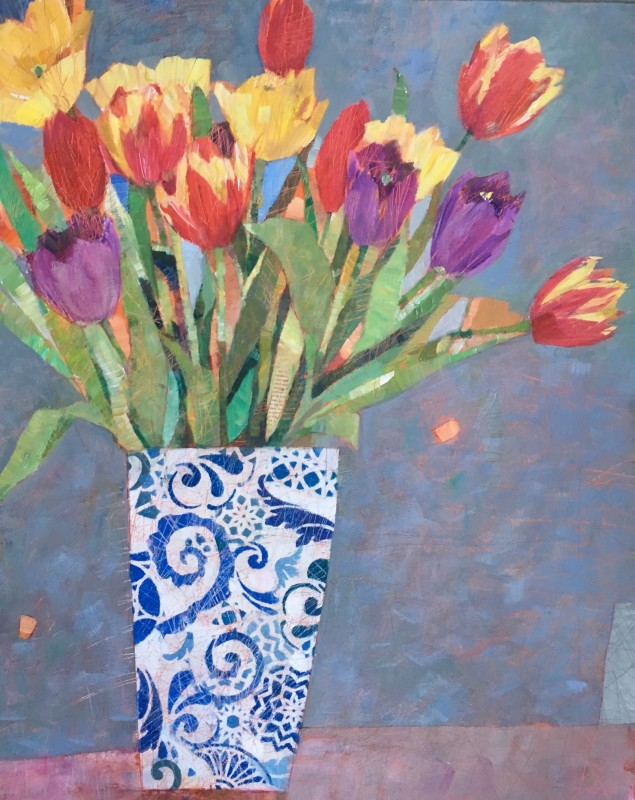 Spring tulips 30 x 24 ins £1,145