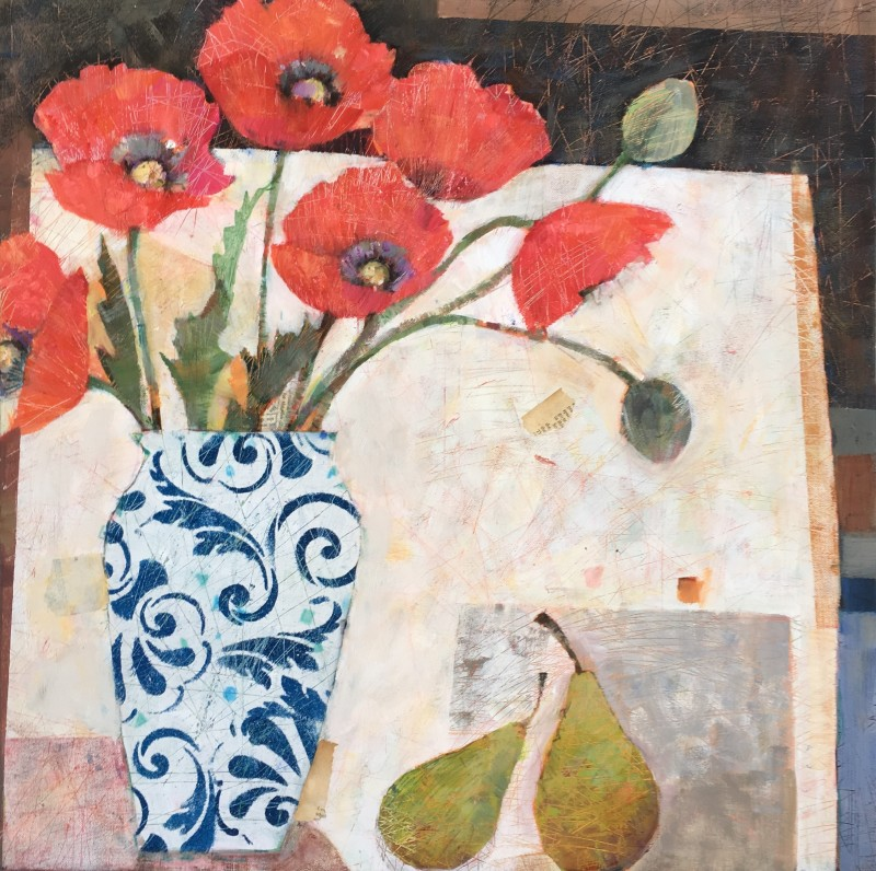 Sally Anne Fitter Henry`s flowers 24 x 24 ins £985