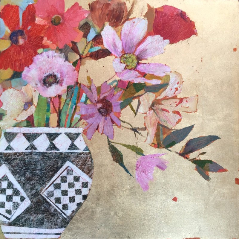 Last of the flowers 30 x 30 ins £1,245
